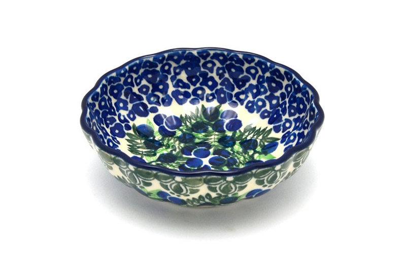 Ceramika Artystyczna Polish Pottery Bowl - Shallow Scalloped - Small - Huckleberry 023-1413a (Ceramika Artystyczna)