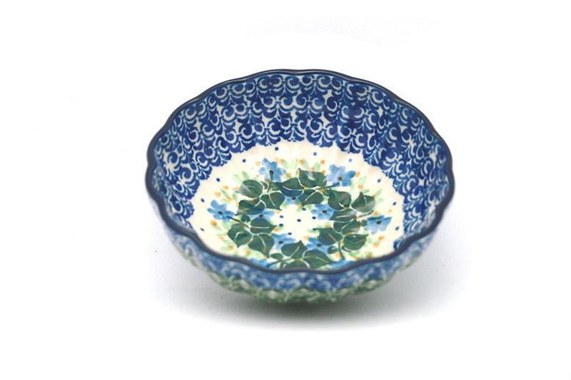 Ceramika Artystyczna Polish Pottery Bowl - Shallow Scalloped - Small - Ivy Trail 023-1898a (Ceramika Artystyczna)