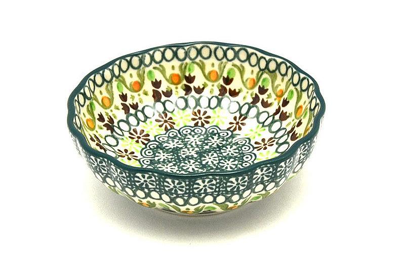 Ceramika Artystyczna Polish Pottery Bowl - Shallow Scalloped - Small - Mint Chip 023-2195q (Ceramika Artystyczna )