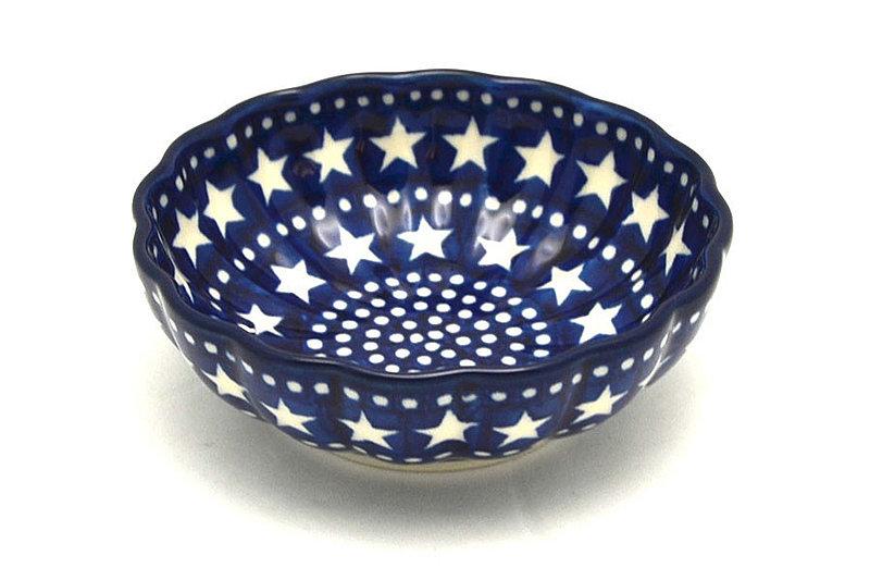 Ceramika Artystyczna Polish Pottery Bowl - Shallow Scalloped - Small - Starlight 023-0119a (Ceramika Artystyczna )