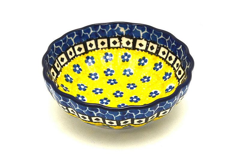 Ceramika Artystyczna Polish Pottery Bowl - Shallow Scalloped - Small - Sunburst 023-859a (Ceramika Artystyczna)