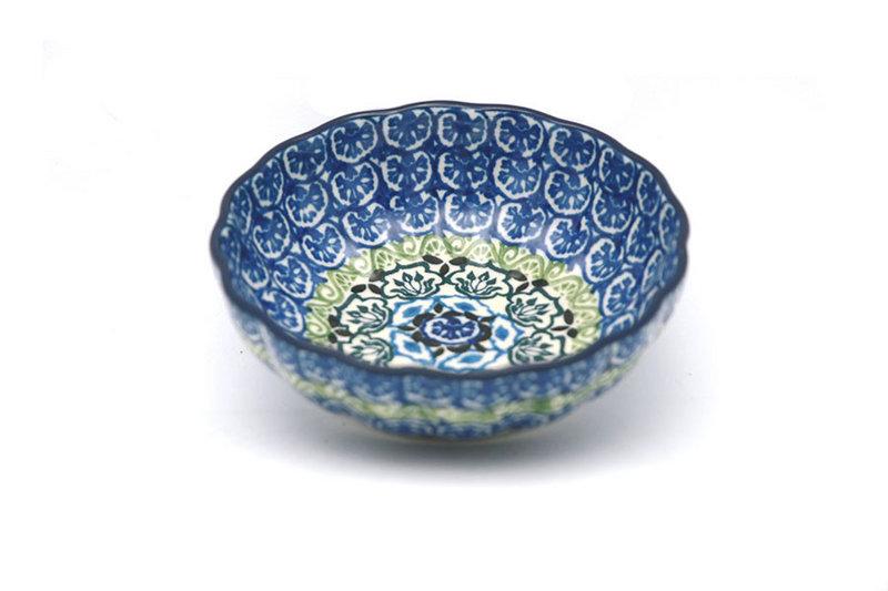 Ceramika Artystyczna Polish Pottery Bowl - Shallow Scalloped - Small - Tranquility 023-1858a (Ceramika Artystyczna)