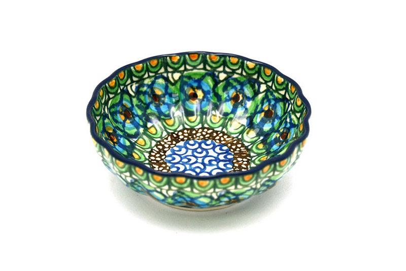 Ceramika Artystyczna Polish Pottery Bowl - Shallow Scalloped - Small - Unikat Signature U151 023-U0151 (Ceramika Artystyczna)