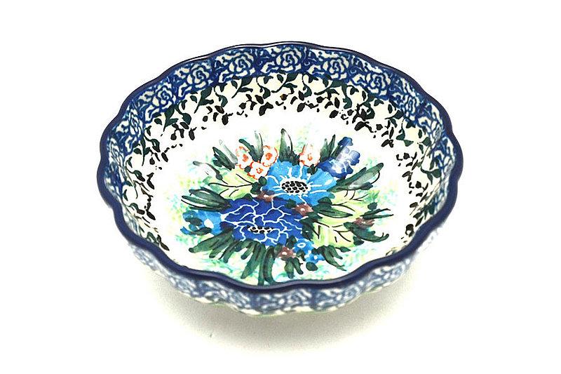 Polish Pottery Bowl - Shallow Scalloped - Small - Unikat Signature U4572