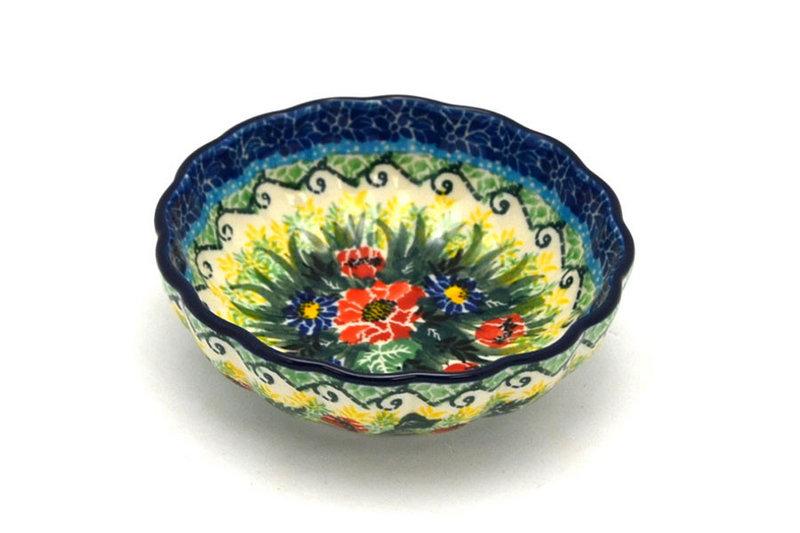 Ceramika Artystyczna Polish Pottery Bowl - Shallow Scalloped - Small - Unikat Signature U4610 023-U4610 (Ceramika Artystyczna)