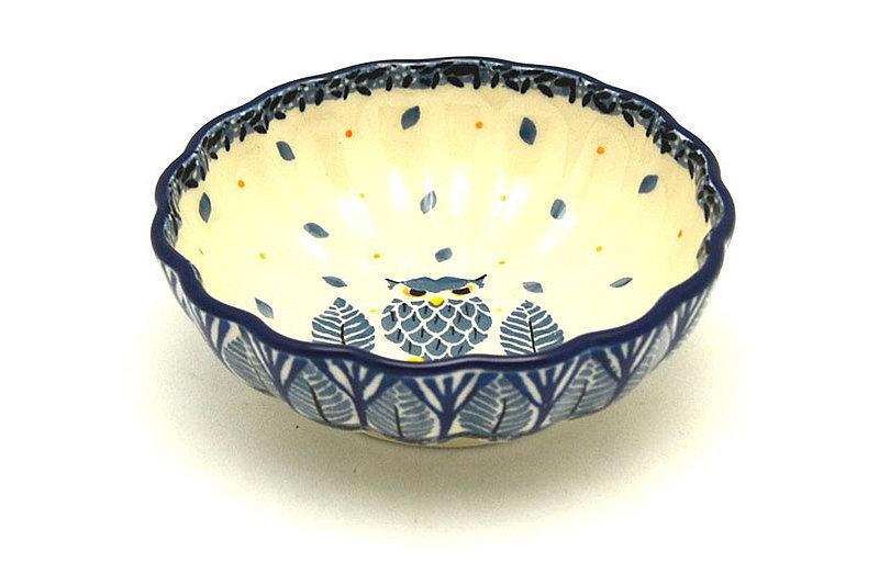 Ceramika Artystyczna Polish Pottery Bowl - Shallow Scalloped - Small - Unikat Signature U4873 023-U4873 (Ceramika Artystyczna)