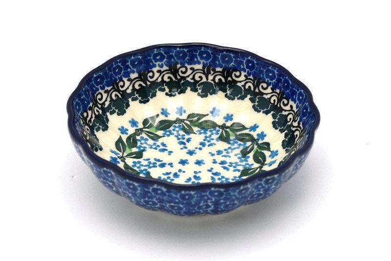 Ceramika Artystyczna Polish Pottery Bowl - Shallow Scalloped - Small - Wisteria 023-1473a (Ceramika Artystyczna)