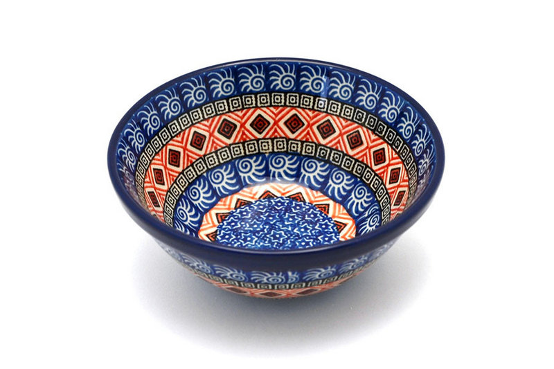 """Ceramika Artystyczna Polish Pottery Bowl - Small Nesting (5 1/2"""") - Aztec Sun 059-1350a (Ceramika Artystyczna)"""