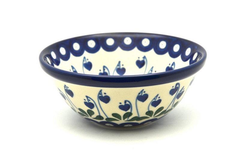 "Polish Pottery Bowl - Small Nesting (5 1/2"") - Bleeding Heart"