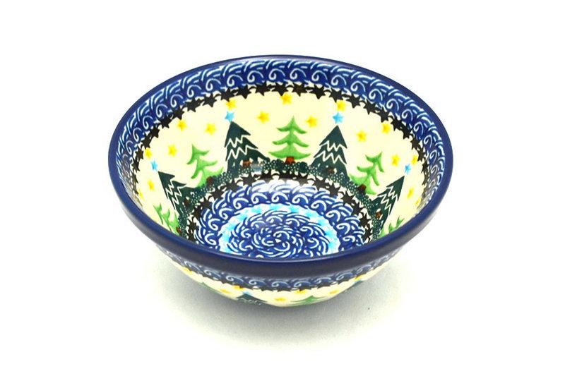 """Ceramika Artystyczna Polish Pottery Bowl - Small Nesting (5 1/2"""") - Christmas Trees 059-1284a (Ceramika Artystyczna)"""