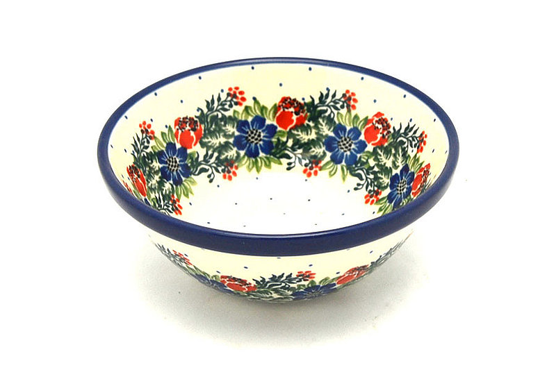 "Polish Pottery Bowl - Small Nesting (5 1/2"") - Garden Party"