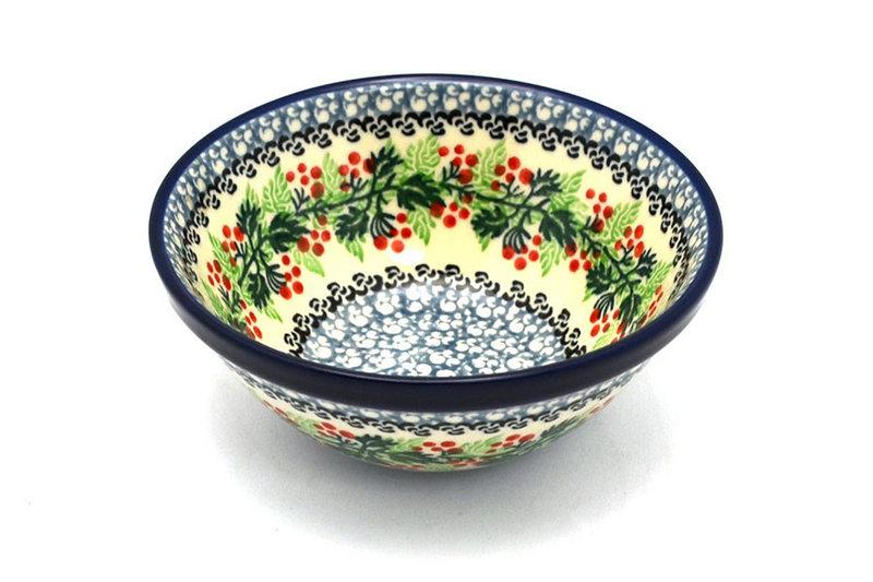 """Ceramika Artystyczna Polish Pottery Bowl - Small Nesting (5 1/2"""") - Holly Berry 059-1734a (Ceramika Artystyczna)"""