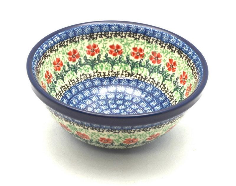 """Ceramika Artystyczna Polish Pottery Bowl - Small Nesting (5 1/2"""") - Maraschino 059-1916a (Ceramika Artystyczna)"""