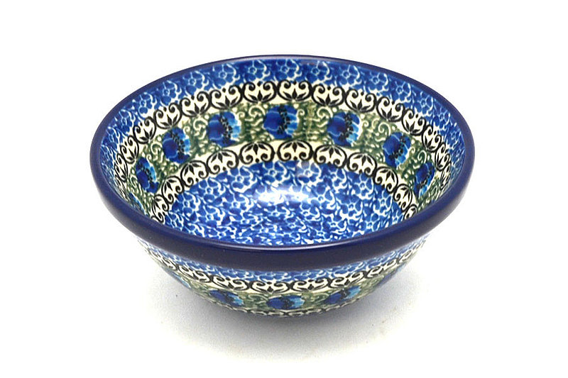 "Polish Pottery Bowl - Small Nesting (5 1/2"") - Peacock Feather"