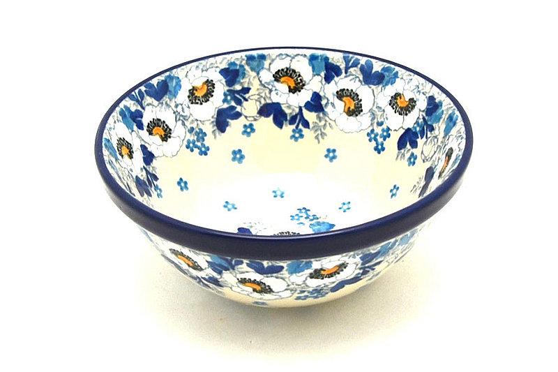 """Polish Pottery Bowl - Small Nesting (5 1/2"""") - White Poppy"""