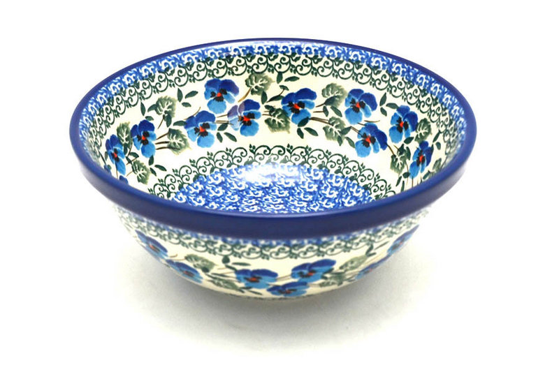 "Ceramika Artystyczna Polish Pottery Bowl - Small Nesting (5 1/2"") - Winter Viola 059-2273a (Ceramika Artystyczna)"