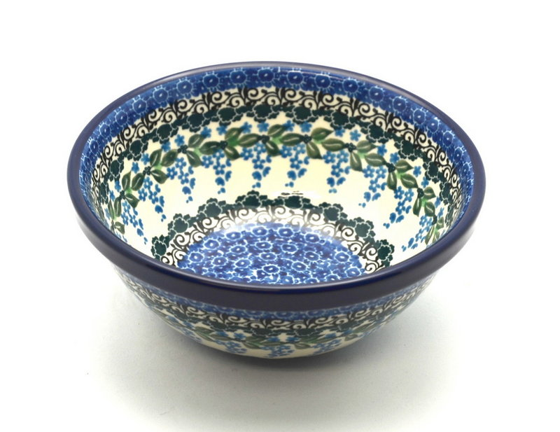 """Ceramika Artystyczna Polish Pottery Bowl - Small Nesting (5 1/2"""") - Wisteria 059-1473a (Ceramika Artystyczna)"""