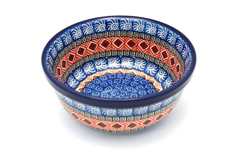 Ceramika Artystyczna Polish Pottery Bowl - Soup and Salad - Aztec Sun 209-1350a (Ceramika Artystyczna)