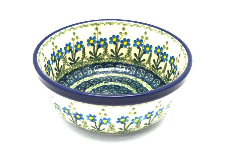 Ceramika Artystyczna Polish Pottery Bowl - Soup and Salad - Blue Spring Daisy 209-614a (Ceramika Artystyczna)