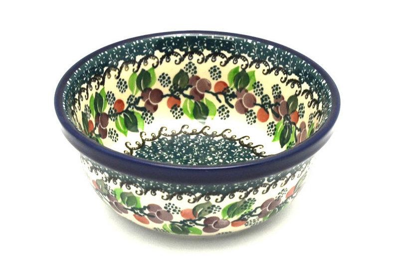 Ceramika Artystyczna Polish Pottery Bowl - Soup and Salad - Burgundy Berry Green 209-1415a (Ceramika Artystyczna)