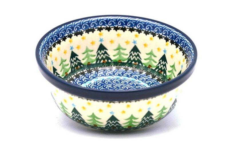 Ceramika Artystyczna Polish Pottery Bowl - Soup and Salad - Christmas Trees 209-1284a (Ceramika Artystyczna)