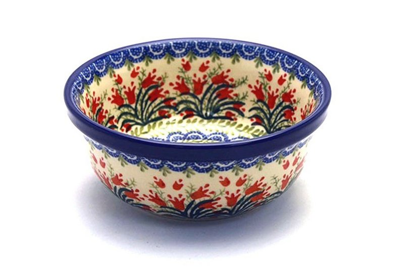 Ceramika Artystyczna Polish Pottery Bowl - Soup and Salad - Crimson Bells 209-1437a (Ceramika Artystyczna)