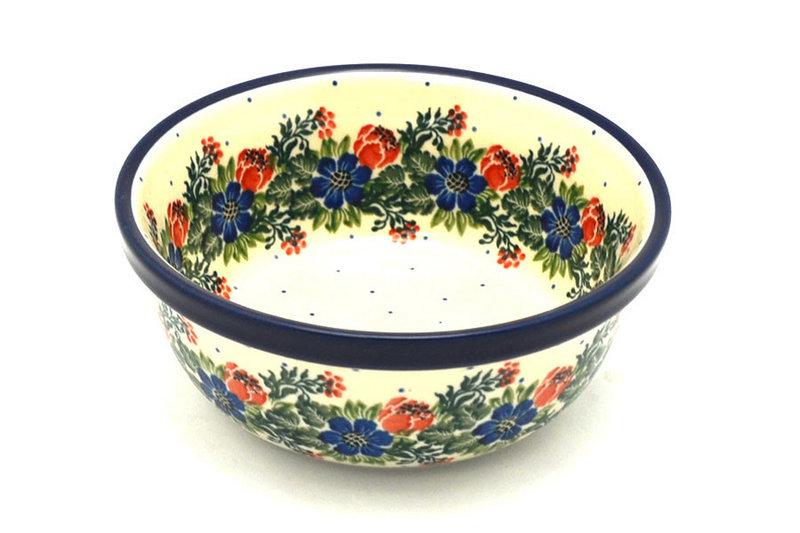 Ceramika Artystyczna Polish Pottery Bowl - Soup and Salad - Garden Party 209-1535a (Ceramika Artystyczna)