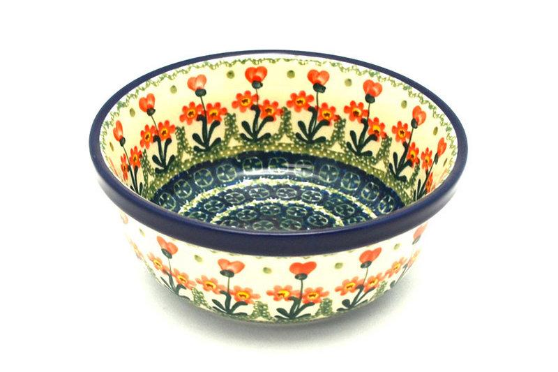 Ceramika Artystyczna Polish Pottery Bowl - Soup and Salad - Peach Spring Daisy 209-560a (Ceramika Artystyczna)