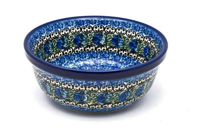 Ceramika Artystyczna Polish Pottery Bowl - Soup and Salad - Peacock Feather 209-1513a (Ceramika Artystyczna)