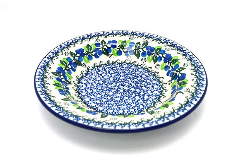 Ceramika Artystyczna Polish Pottery Bowl - Soup/Pasta - Blue Berries 014-1416a (Ceramika Artystyczna)