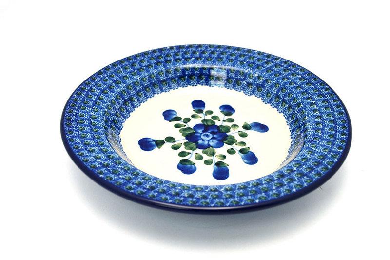 Ceramika Artystyczna Polish Pottery Bowl - Soup/Pasta - Blue Poppy 014-163a (Ceramika Artystyczna)