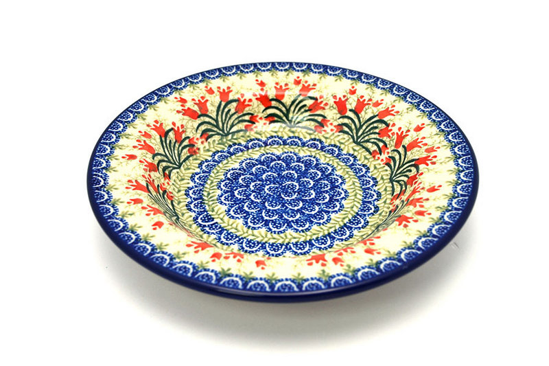 Polish Pottery Bowl - Soup/Pasta - Crimson Bells