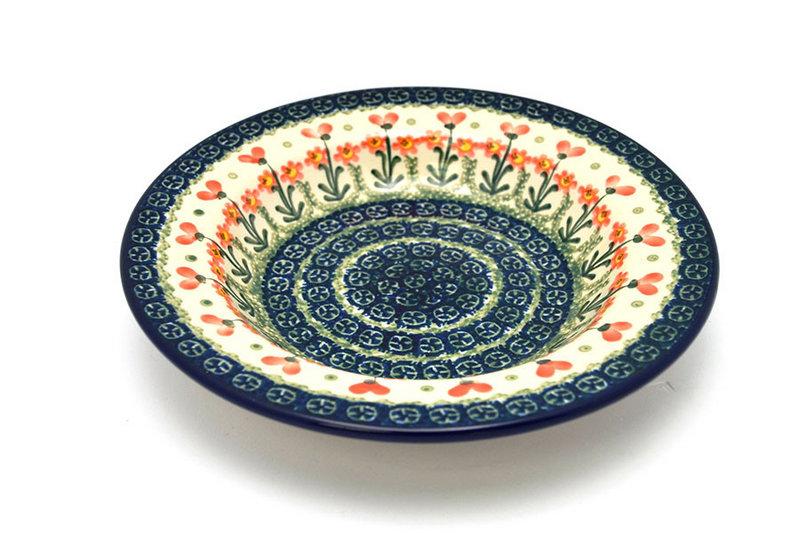 Ceramika Artystyczna Polish Pottery Bowl - Soup/Pasta - Peach Spring Daisy 014-560a (Ceramika Artystyczna)