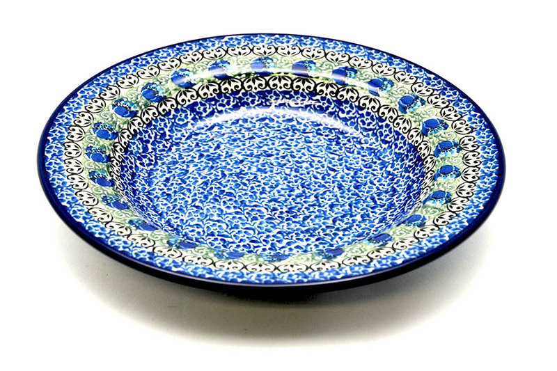 Polish Pottery Bowl - Soup/Pasta - Peacock Feather