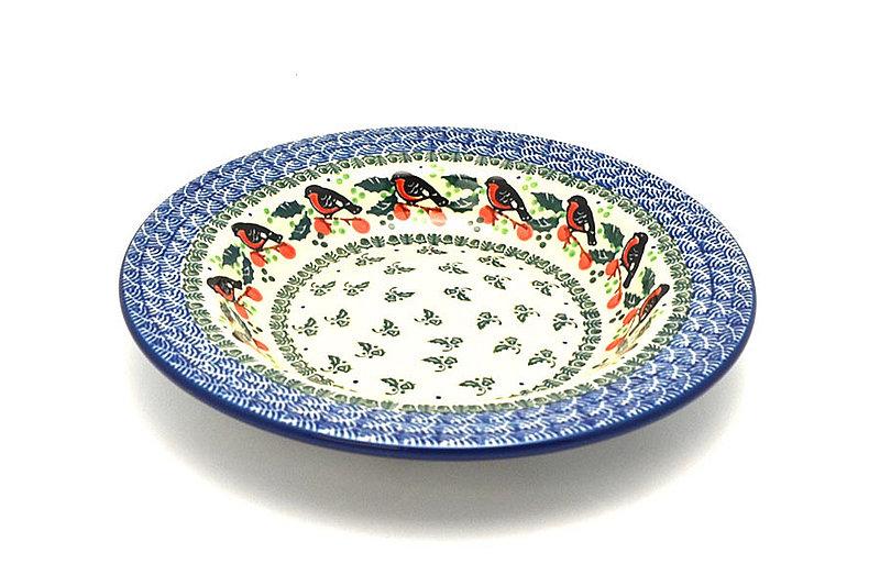 Ceramika Artystyczna Polish Pottery Bowl - Soup/Pasta - Red Robin 014-1257a (Ceramika Artystyczna)