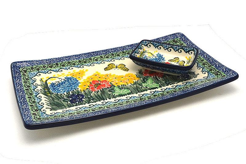 Ceramika Artystyczna Polish Pottery Bread Dipping Set - Unikat Signature U4592 SC2-U4592 (Ceramika Artystyczna)
