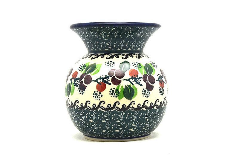 Ceramika Artystyczna Polish Pottery Bubble Vase - Burgundy Berry Green 048-1415a (Ceramika Artystyczna)