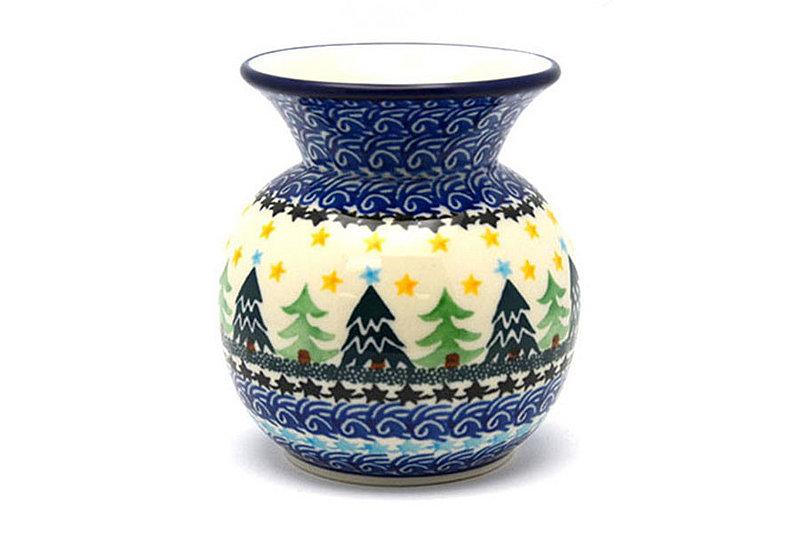 Ceramika Artystyczna Polish Pottery Bubble Vase - Christmas Trees 048-1284a (Ceramika Artystyczna)
