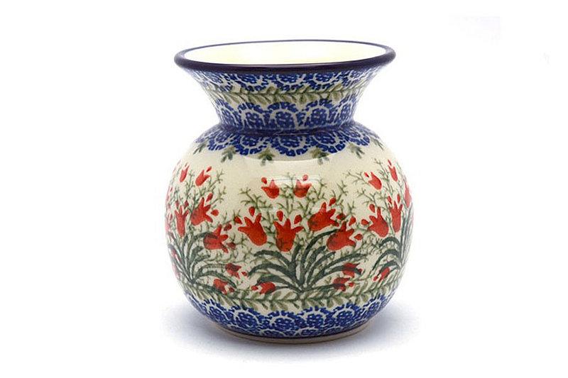 Polish Pottery Bubble Vase - Crimson Bells