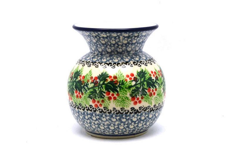Ceramika Artystyczna Polish Pottery Bubble Vase - Holly Berry 048-1734a (Ceramika Artystyczna)
