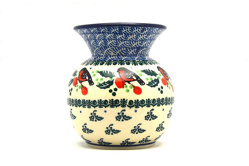 Ceramika Artystyczna Polish Pottery Bubble Vase - Red Robin 048-1257a (Ceramika Artystyczna)