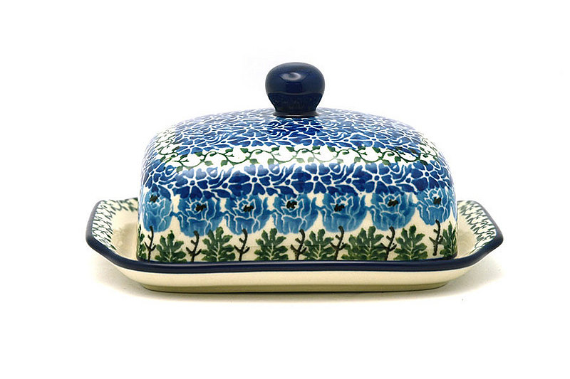 Ceramika Artystyczna Polish Pottery Butter Dish - Antique Rose 295-1390a (Ceramika Artystyczna)