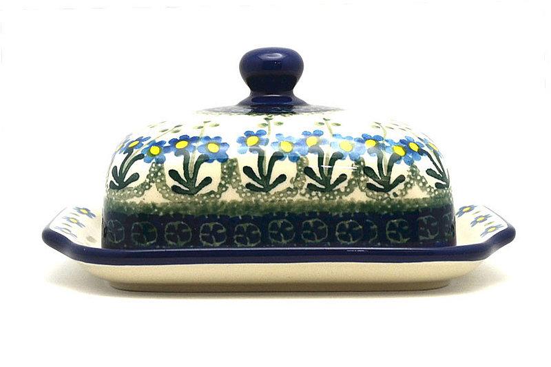 Ceramika Artystyczna Polish Pottery Butter Dish - Blue Spring Daisy 295-614a (Ceramika Artystyczna)