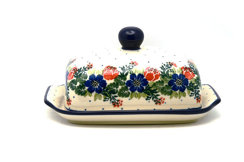 Ceramika Artystyczna Polish Pottery Butter Dish - Garden Party 295-1535a (Ceramika Artystyczna)