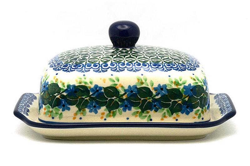 Ceramika Artystyczna Polish Pottery Butter Dish - Ivy Trail 295-1898a (Ceramika Artystyczna)