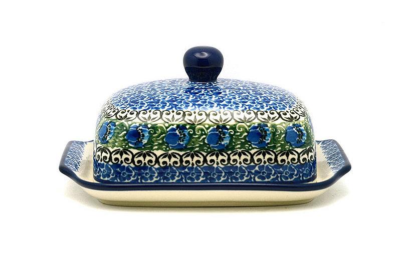 Ceramika Artystyczna Polish Pottery Butter Dish - Peacock Feather 295-1513a (Ceramika Artystyczna)