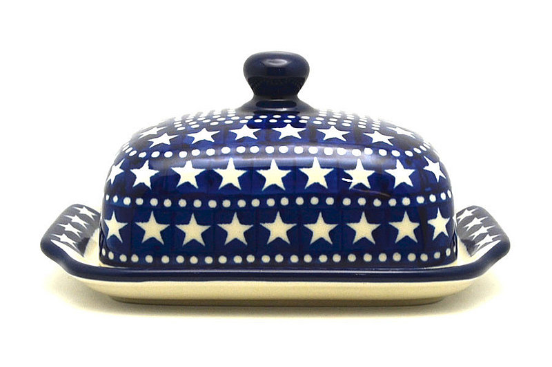 Ceramika Artystyczna Polish Pottery Butter Dish - Starlight 295-0119a (Ceramika Artystyczna)