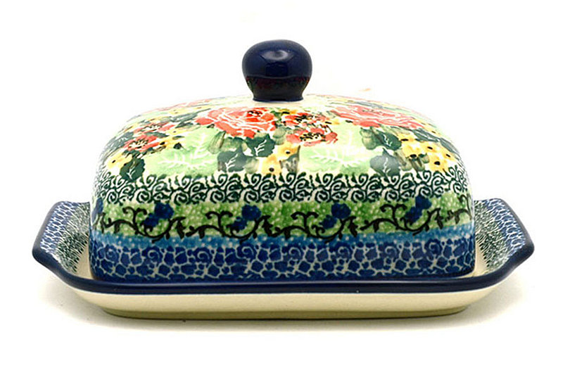 Ceramika Artystyczna Polish Pottery Butter Dish - Unikat Signature - U4400 295-U4400 (Ceramika Artystyczna)
