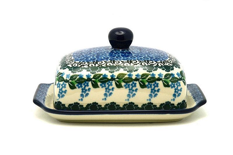 Ceramika Artystyczna Polish Pottery Butter Dish - Wisteria 295-1473a (Ceramika Artystyczna)