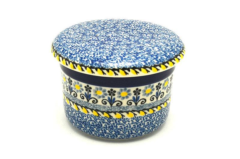 Ceramika Artystyczna Polish Pottery Butter Keeper - Daisy Maize 270-2178a (Ceramika Artystyczna)